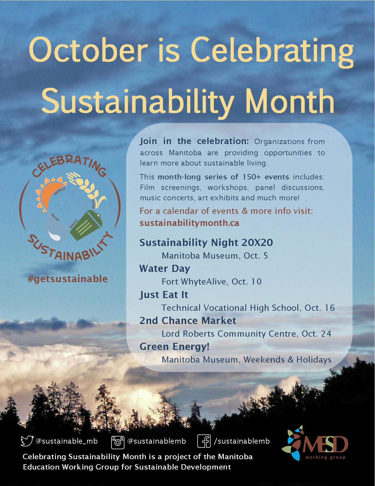Sustainability Month Poster USE