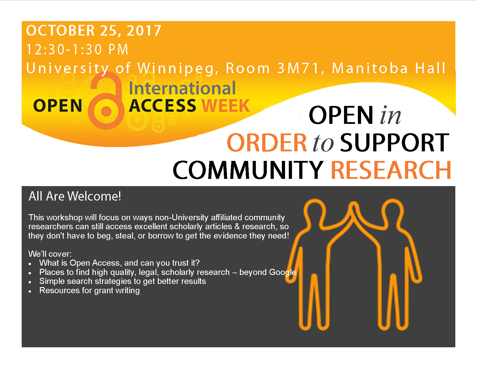 University of Winnipeg Community Research Workshop